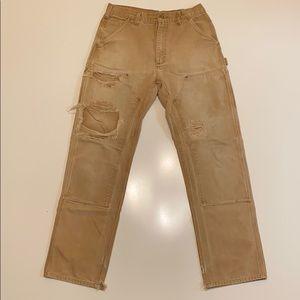 Vintage thrashed Carhartt jeans
